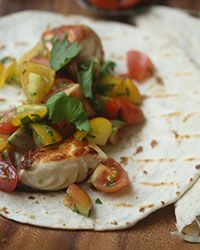 Seared Fish Tacos with Cherry Tomato Pico de Gallo Recipe on Food & Wine
