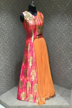 http://www.mangaldeep.co.in/lehengas/refined-orange-and-pink-in-readymade-designer-partywear-indowestern-suit-7920 For more information :- Call us @ +919377222211 (Whatsapp Available)