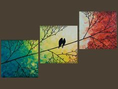 ...staggered love birds art. Through the seasons