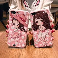 The Beautiful Girl cute cat monkey soft Silicone phone Case for Iphone 6 6s 7 plus Korean Style lovely Cartoon Cover