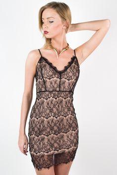 Black Starry Night Lace Dress