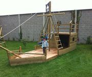 Piratenschiff im Garten