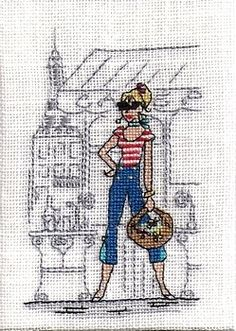 Mes Parisiennes Ribbon Embroidery, Cross Stitch Embroidery, Embroidery Patterns, Cross Stitching, Grand Art, Atc, Needle And Thread, Needlework, Sewing