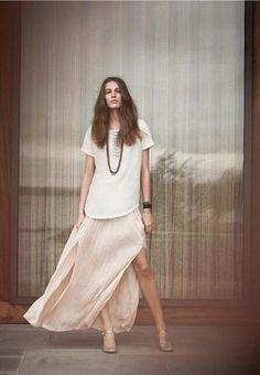 bd9621c47c Club Monaco Women Spring 2012 Trends Slit Skirt, Club Monaco, Designer,  Fashion Books