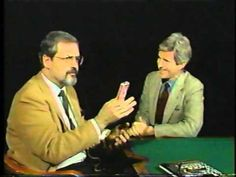 Newsman amazed by the tricks of magician Harry Blackstone, Jr.
