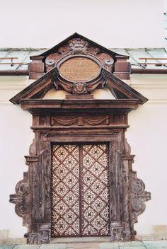 Gate in the Klaryski Monastery In Krakow.