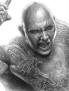 Drax (Avengers - Infinity War) by Avengers Drawings, Avengers Tattoo, Avengers Art, Marvel Art, Marvel Comic Character, Marvel Characters, Galaxy Drawings, Iron Man, Loli Kawaii