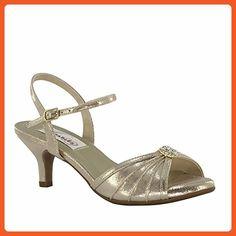 f064cdf7412 Dyeables Kelsey Women s Champagne Shimmer Sandals 7 EW - Sandals for women  ( Amazon Partner