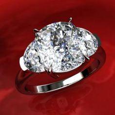 3 stone diamond engagement ring beautiful!