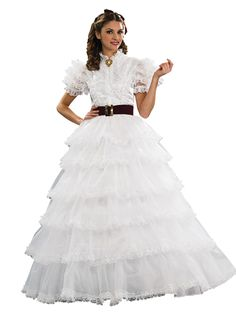 Scarlett Ohara Costume - Beautiful gown and beautiful person, it is a perfect match! You will look amazing in this costume! Scarlett Ohara Southern Belle Costume includes a gorgeous white dress . Belle Halloween Costumes, Adult Costumes, Costumes For Women, Halloween Ideas, Adult Halloween, Halloween City, Halloween 2014, Movie Costumes, Halloween Outfits