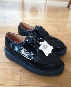 Womens Purified George COX Brothel Creeper Brogue Shoes Double Sole | eBay
