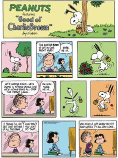 Peanuts by Charles Schultz found on gocomics.com on Easter Sunday, April 5, 2015.