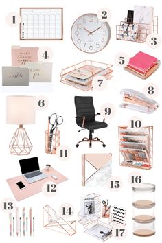 Room Decor Bedroom Rose Gold ` Room Decor Bedroom - Best Picture For diy projects For Your Taste You are looking for something, and it is going to te - Study Room Decor, Cute Room Decor, Room Ideas Bedroom, Work Desk Decor, Decorating Office Desks, Diy Girl Room Decor, Room Decor Teenage Girl, Office Room Ideas, Desk In Bedroom