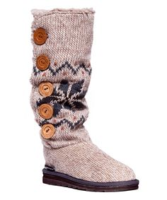 76e266bc17 Look at this  zulilyfind! Ivory Fair Isle Malena Boot by Heritage  Collection by MUK