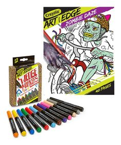 Take a look at this Art with Edge Zombie Daze Coloring Book & 12-Ct. Wedge Markers today!