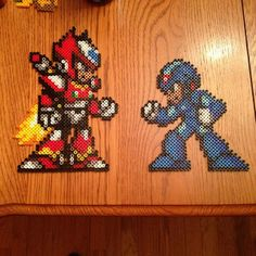 MegaMan perler beads by thatpolishdude27