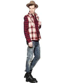 Diesel | CHECKED LIGHT COTTON FLANNEL SHIRT #diesel #flannel #shirt