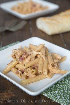 Smokey Garlic Chicken Pasta - a new weeknight favorite! A creamy chicken pasta dish with a lots of flavor. A little smokey, a little peppery, and so good!
