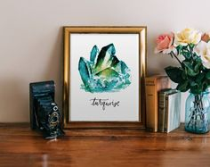 TURQUOISE WATERCOLOR JEWEL
