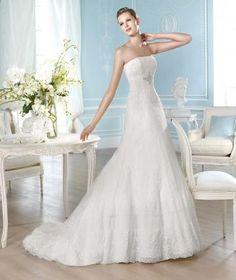 Hala Krajka Zima Designer Svatební šaty