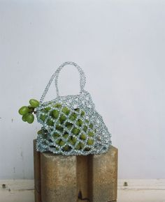 Image 1 of from Zara Look Fashion, Fashion Bags, Kate Spade Handbags, Beaded Bags, Cute Bags, Diy Clothes, Purses And Bags, Crochet Earrings, Creations