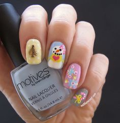 nice Christmas Nail Art - Girly Themed Nail Art - Nail That Accent!