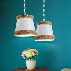 62.09$  Watch here - http://alih5k.shopchina.info/go.php?t=32797584973 - Hot Industrial Vintage Pendant Lights Hemp Rope Loft LED Pendant Lamp Creative Fixtures For Home Lightings Lamparas Colgantes  #SHOPPING