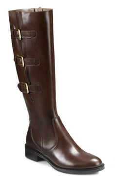 Uppers made of soft, shiny riviera leather. Fashionable, modern long boot ideal for autumn Hobart II £155