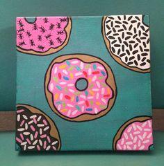 Anthropodonut 8x8 donut painting by somnambulant on Etsy, $35.00
