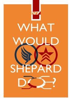 What Would Shepard Do? - Mass Effect & Commander Shepard inspired print