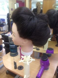Pleating with another styler after brick set  and back brush