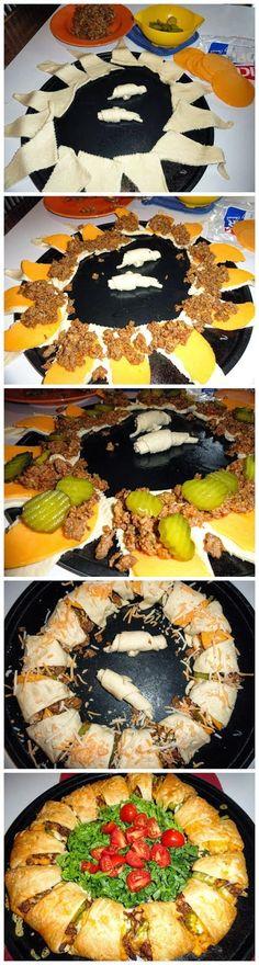 Crescent Cheeseburger Ring - Artisan Cook