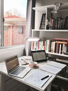 𝓼𝓾𝓼𝓪𝓷𝓼𝓲𝓷𝓼𝓹𝓲𝓻𝓪𝓽𝓲𝓸𝓷studying - studyblr - inspiration - school - college - high school - finals - back to school - inspo - motivation - desk - interior - home - organized - cute - vsco - Study Areas, Study Space, Study Rooms, School Motivation, Study Motivation, Homework Motivation, Motivation Pictures, Zones D'étude, Home Office