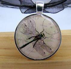 Resin Pendant Dragonfly by BytheGulfCreations on Etsy, $17.00