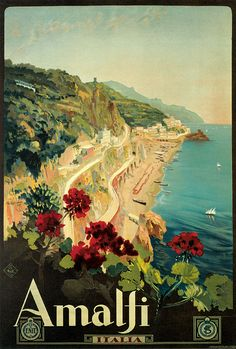 Amalfi Coast retro poster