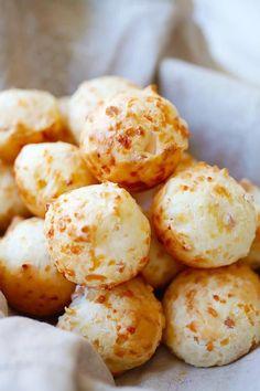 Bacon Parmesan Gougeres (Cheese Puffs) - Rasa Malaysia