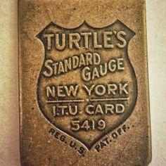 Another brass guage badge.  #typehunter #vintagebrand #vintageruler @Brad Vetter