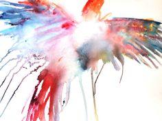 Parrot Art Watercolor Painting Giclee Print by StudioEmmaKaufmann