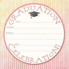 Collection of hundreds of Free Graduation Invitation Template from all the world.