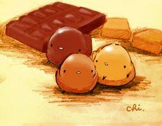 チョコレートと、キャラメルと。