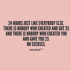 No fucking excuses