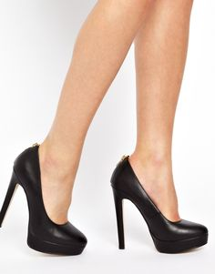 Image 3 of New Look Pulling Zip Detail Platform Court Shoes