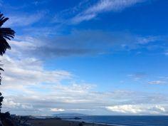 Blue Skies & Sun to the south.  Stormy Rain Clouds & Thunder to the north.  #MyDayInLA #Malibu #SantaMonica #Sunset