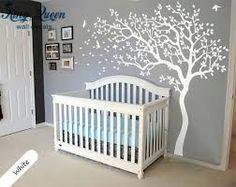 Resultado de imagem para decoração para quarto bebe passaros e galhos naturais