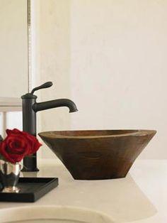 Rustic Single Hole Vessel Faucet Newport Brass, Vessel Faucets, Sink, Rustic, Home Decor, Sink Tops, Country Primitive, Vessel Sink, Decoration Home