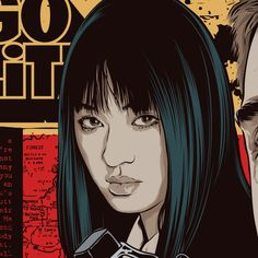 Chiaki Kuriyama from Kill Bill [Art by Mondo] #TarantinoXX