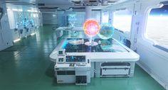 Futuristic Space Station Interior, sofian moumene on ArtStation at https://www.artstation.com/artwork/YP9LK