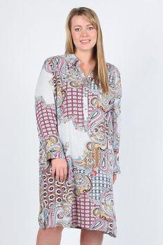 Patterned Shirt Dress     Gucci Dress (Plus Size)