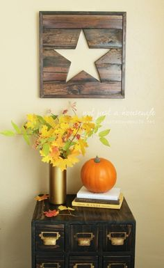We think this DIY wall art is the perfect rustic touch!