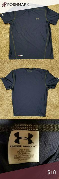 "Under Armour  shirt Dark blue Under Armour shirt  arm pit to arm pit 19"" shoulder to hem 22"" Under Armour Shirts"
